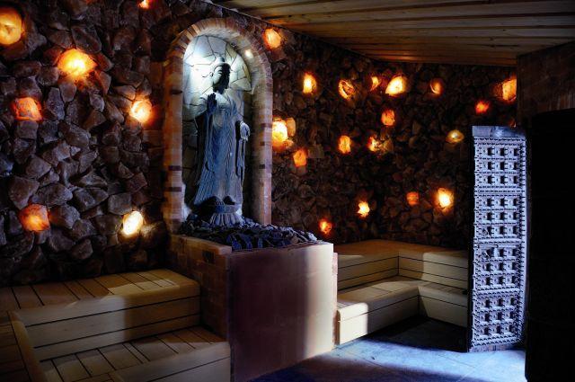 spa sereen buddha zout sauna